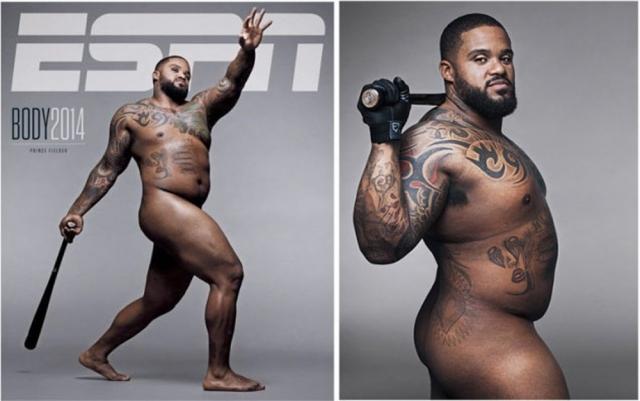 ESPN, 2014. Журнал, обычно печатающий материалы об атлетах, разместил у себя на обложке фото бейсболиста Принца Филдера, которое вызвало довольно бурные эмоции и споры у читателей.
