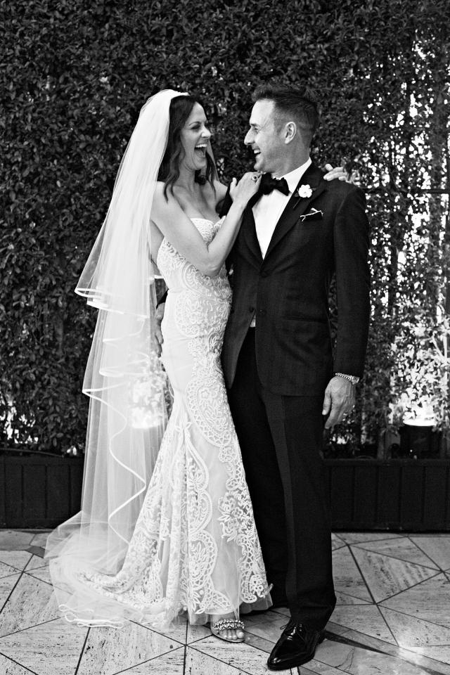 Дэвид Аркетт женился на Кристине МакЛарти 12 апреля. Уговорить невесту было не просто, предложение пришлось делать дважды!