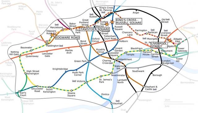 Террористический акт привёл к тому, что система общественного транспорта в Лондоне была парализована на сутки.