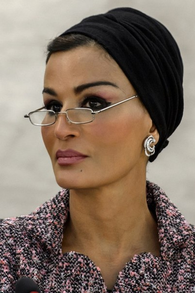 В отличие от других жен правителей Персидского залива Шейха весьма образованная женщина: она сопровождает мужа на приемах, занимает ряд государственных и международных должностей, является спецпосланником ЮНЕСКО.