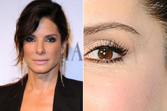 У актрисы Сандры Баллок небольшой шрам над левым глазом.