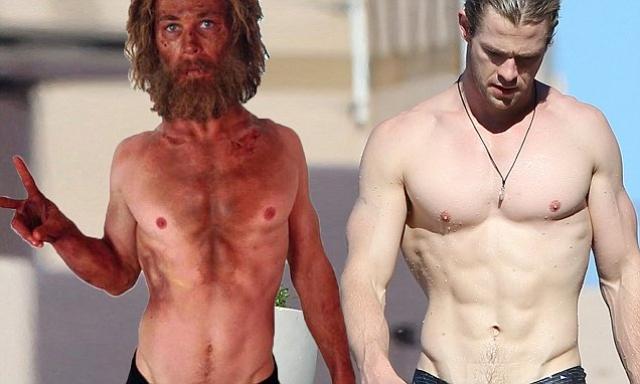"""Крис Хемсворт. После съемок """"Мстителей"""" для роли в фильме """"Гонка"""" актеру пришлось похудеть со 100 до 84 кг за 4 месяца..."""