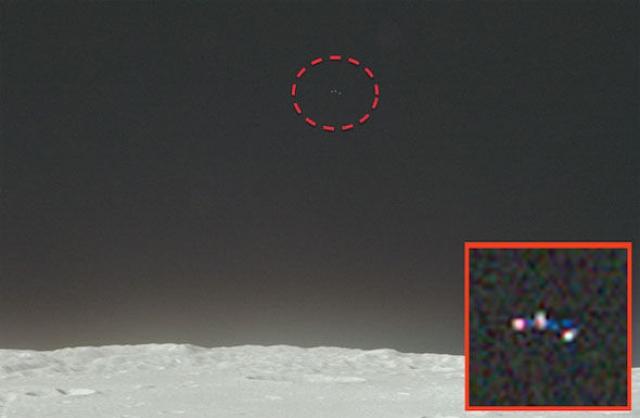 """Фото необычного объекта над лунным горизонтом было сделано пилотом из миссии """"Аполлон-17"""" Гаррисоном Шмидтом."""