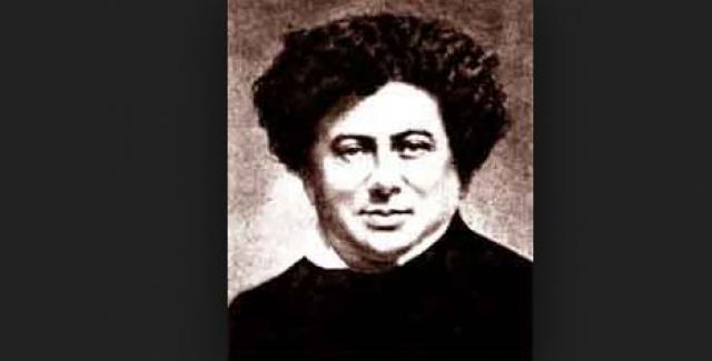 """Александр Дюма. Автор """"Трех мушкетеров"""" и """"Графа Монте-Кристо"""" родился во Франции 24 июля 1802 года. Бабушка его была чернокожей рабыней, на которой женился дед помещик, а отец был генералом."""