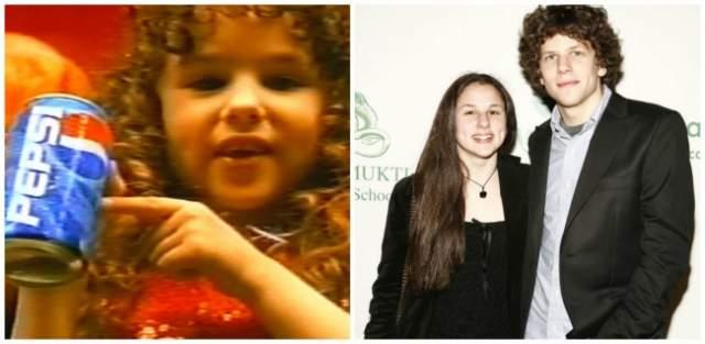 """Халли Кейт Айзенберг, девочка из рекламы Pepsi. Как видно уже по фамилии, крошка из телевизионного ролика - сестра актера Джесси Айзенберга (""""Двойник"""", """"Социальная сеть"""")."""