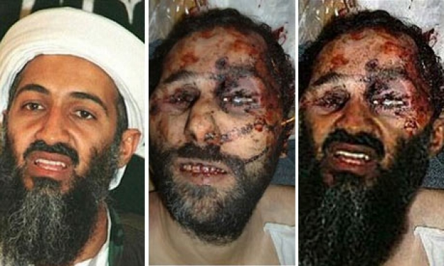 """Некоторые эксперты также высказывают сомнения в доказательствах, предоставленных СМИ. В частности, """"Франс Пресс"""" сообщило о разоблачении т. н. """"фотографии мертвого бен Ладена"""", появившейся в пакистанских газетах. Кроме того, о смерти бен Ладена с 2001 по 2010 год сообщалось шесть раз."""