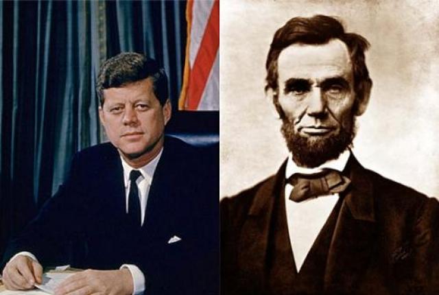 5.Линкольн и Кеннеди. Роковая связь через 100 лет Линкольн родился в 1818 г. Кеннеди родился в 1918 г. (разница 100 лет) Линкольн стал президентом США в 1860 г. Кеннеди стал президентом США в 1960 г. (разница 100 лет).