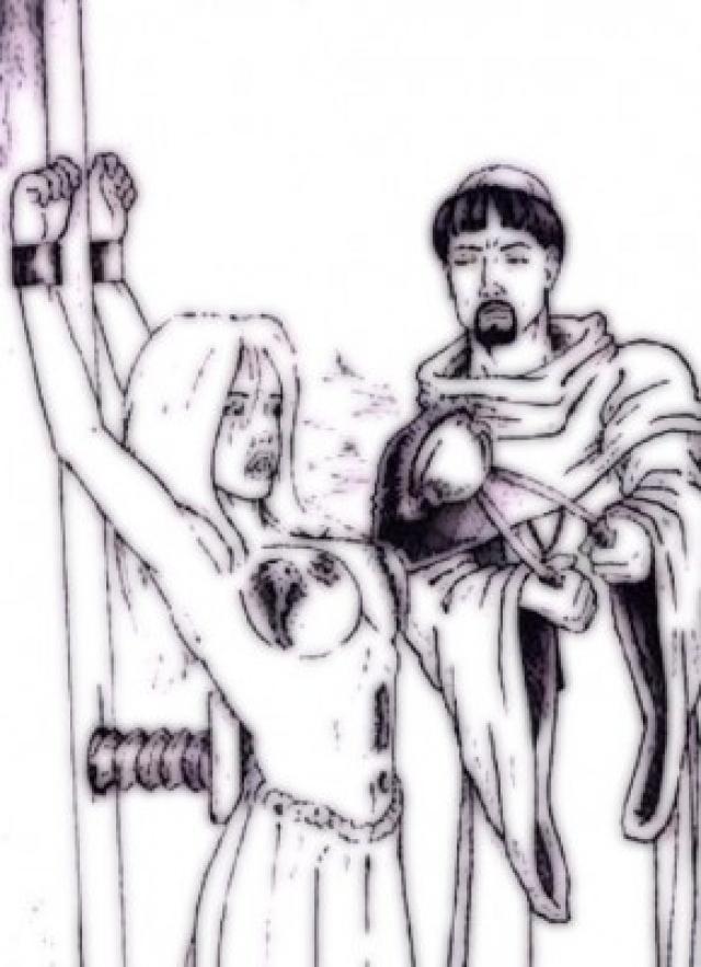 Пектораль. В древности так называли нагрудное женское украшение. По аналогии с этим было названо страшное орудие пытки, применявшееся венецианской инквизицией. Пектораль раскаляли докрасна и щипцами надевали на грудь истязуемой и держали до тех пор, пока та не сознавалась, повторяя процедуру по необходимости.