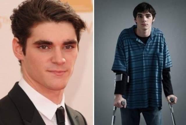 """Ар-Джей Митт. Уолтер Уайт-младший в популярнейшем сериале """"Во все тяжкие"""", как и его герой, страдает детским церебральным параличом."""