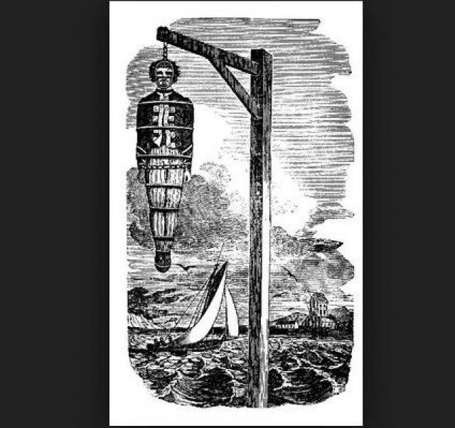 Спасаясь от своих бывших подчиненных, Кидд сдался в руки английских властей. По обвинению в пиратстве и убийстве судового офицера, который как раз был зачинщиком мятежа, Кидда приговорили к смертной казни. В 1701 году пират был повешен, а его тело провисело в железной клетке над Темзой 23 года, как предупреждение другим пиратам.