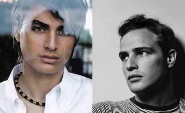 Туки Брандо , внук известного актера Марлона Брандо. Работает моделью в доме моды Versace. Его мать Чейнни была наркоманкой и шизофреничкой. Когда мальчику было пять лет, она покончила с собой. Своего папу Туки никогда не видел – его застрелил старший сын Марлона Брандо, Кристиан, за месяц до рождения сына.