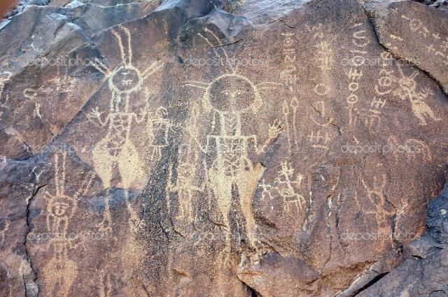 Древние наскальные рисунки в Нигере.