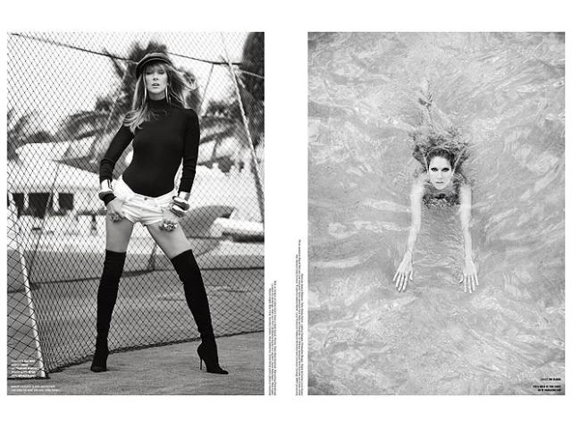Автором необычной фотосессии, продемонстрировавшей подтянутую фигуру Селин, стал фотограф Себастьян Фаена.