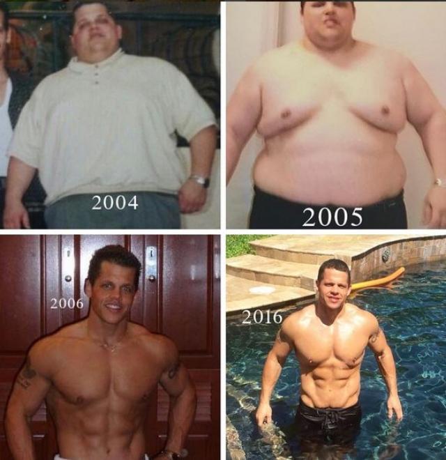 Он записался в спортзал и сел на диету.