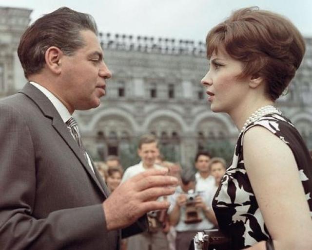 Джина Лоллобриджида, 1961 год. Итальянская киноактриса также стала участницей кинофестиваля.