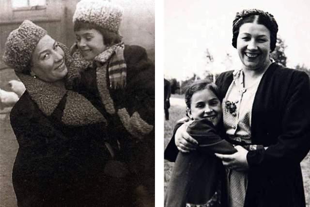 Лидия Русланова с приемной дочерью Маргаритой.