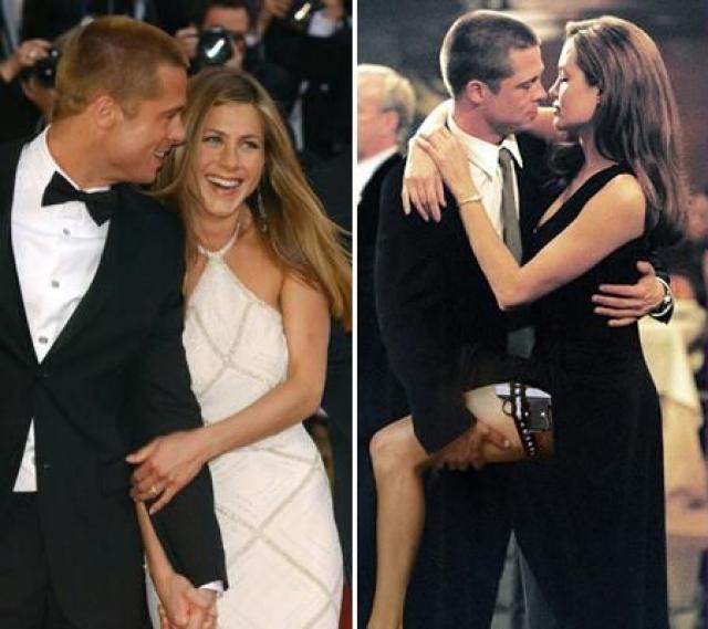 """Еще до оформления развода у Брэда начались отношения с его партнершей по фильму """"Мистер и миссис Смит"""" Анджелиной Джоли, что и стало причиной развода."""