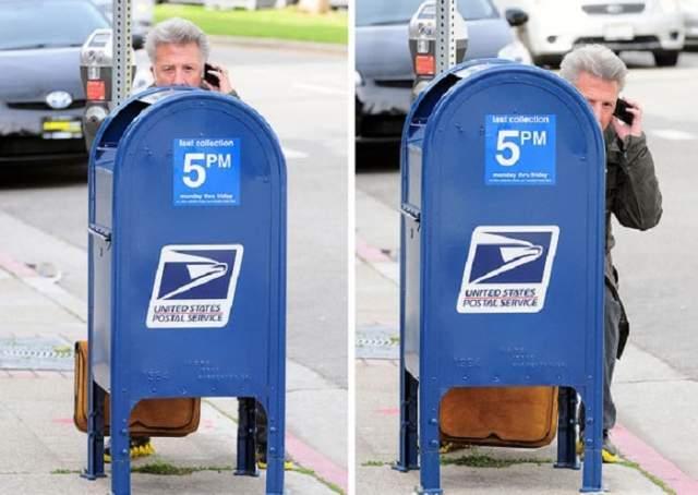 Иногда надеется, что его примут за почтовый ящик...