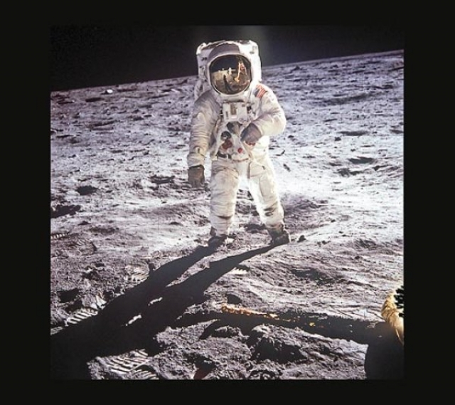 Фото Базза Олдрина на Луне, 1969 год.