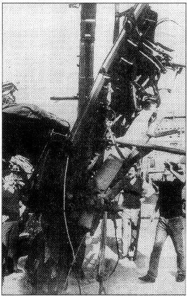 Но 5 июля 1985 года остальные обломки были обнаружены, а 9 и 10 июля были найдены оба бортовых самописца.