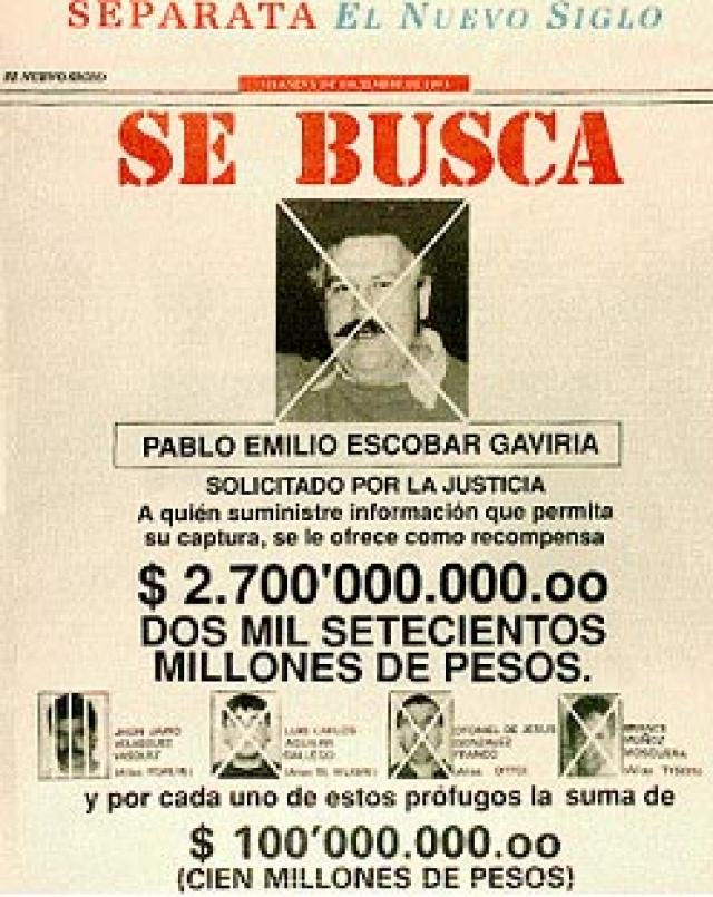 В середине 80-х годов над экс-парламентарием Эскобаром нависла новая серьёзная угроза. Администрация президента Рейгана объявила войну наркотикам не только в Соединённых Штатах, но и по всему миру. Между США и Колумбией было достигнуто соглашение, согласно которому колумбийское правительство обязалось выдавать американскому правосудию кокаиновых баронов, занимавшихся наркотрафиком в Соединённые Штаты.