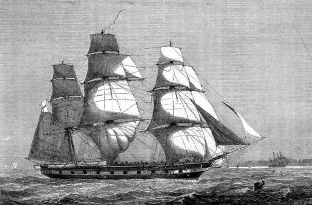 """В 1880 году корабль """"Атланта"""" исчез на пути в Англию."""