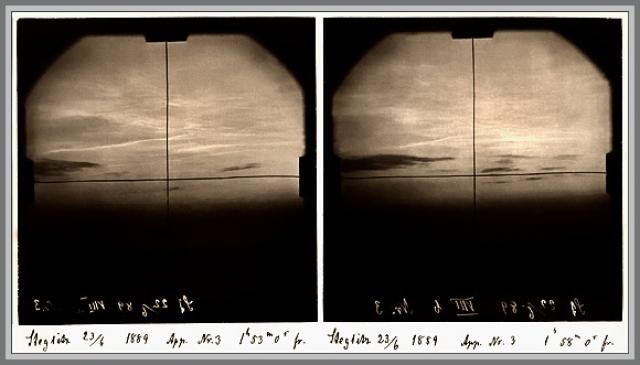 Вскоре после взрыва началась магнитная буря, продолжавшаяся 5 часов. (На фото феномен серебристых облаков)