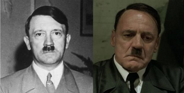 """Адольф Гитлер и Бруно Ганц , """"Бункер - Падение""""."""