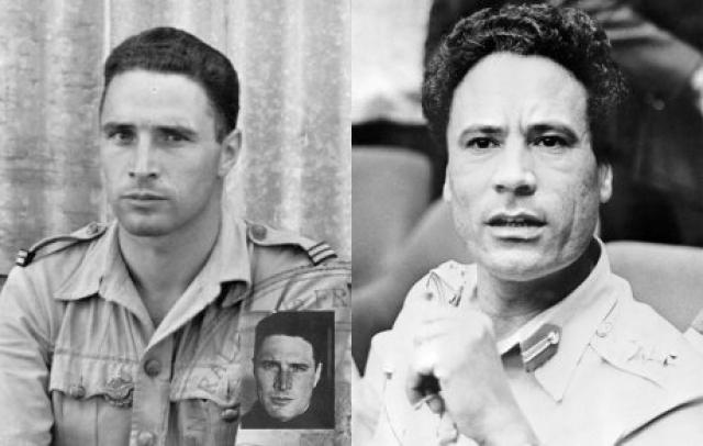 """По другим данным, Каддафи - сын корсиканского офицера ВВС """"Свободной Франции"""" (FAFL) капитана Альберта Прециози, который в 1941 году потерпел крушение в ливийской пустыне, поскольку диктатор и французский военный невероятно похожи."""