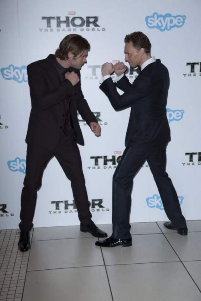 Тор и Луки без грима.