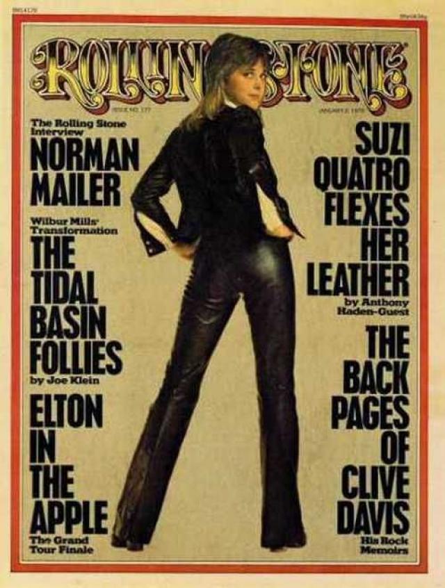 """В 70-х годах Кватро была удивительно популярна, а поток ее хитов казался неиссякаемым. В 1977-м фото Сюзи оказалось на обложке журнала """"Rolling stone"""", и тогда же певице было сделано предложение сняться в кино."""