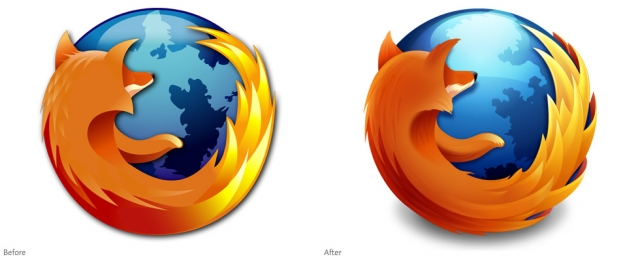 """В 2003 году создание нового логотипа программы поручили интерфейсному дизайнеру Джону Хиксу из Hicksdesign, который и создал знаменитую """"огненную лису""""."""