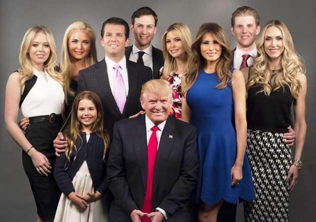 Дональд Трамп. У действующего президента Соединенных Штатов пятеро детей от трех жен и восемь внуков.