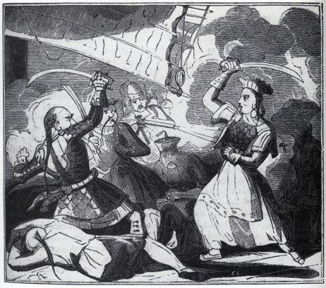 Чжэн Ши (1785-1844). Китаянку принято считать одной из наиболее удачливых пиратов: она командовала флотом в 2000 судов, на которых служило более 70 тысяч матросов.