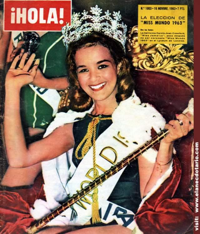Кэрол Кроуфорд (Ямайка) - Мисс мира 1963.