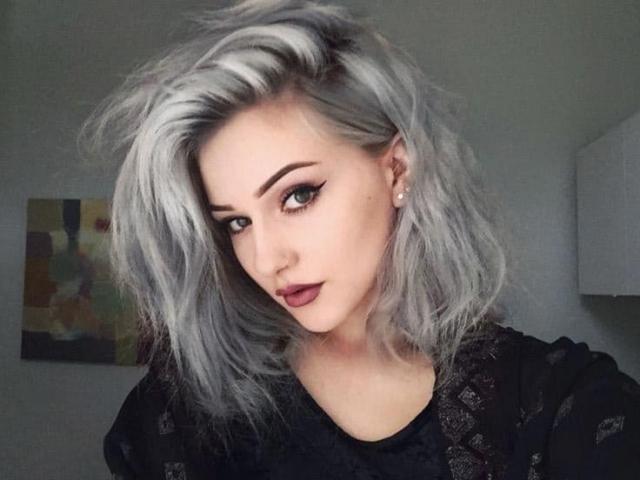 """12.""""Седые"""" волосы в бабулином стиле"""