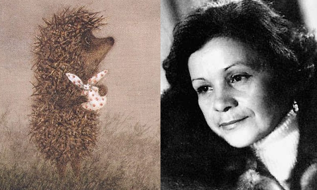 """""""Ежик в тумане"""", 1975 год. Ежик -Мария Виноградова."""