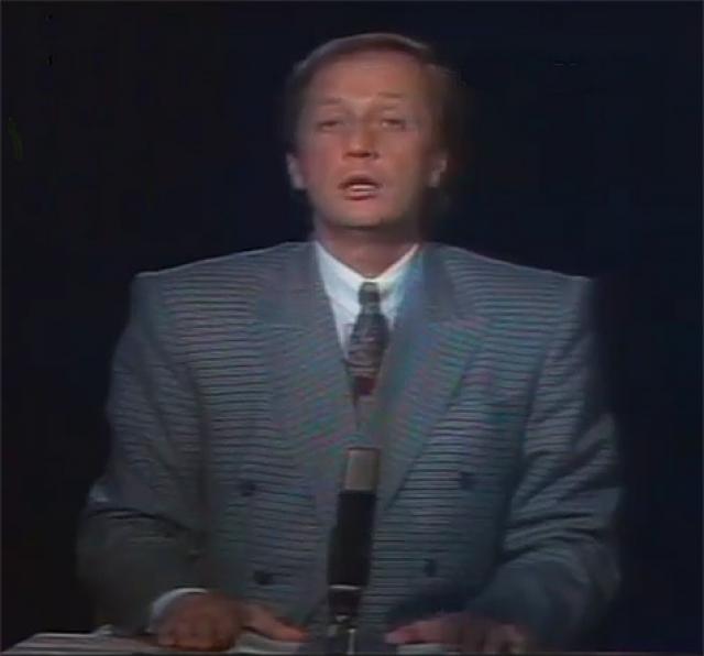 В конце 1991 года с традиционным новогодним телевизионным обращением к гражданам вместо президента Ельцина выступил писатель-сатирик М. Н. Задорнов.