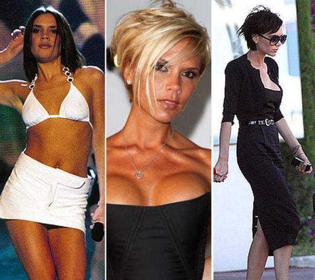 """Виктория Бекхэм. """"Перчинка"""" всегда считала свою грудь слишком маленькой и абсолютно не сексуальной и дважды увеличивала ее размер с помощью пластических операций."""