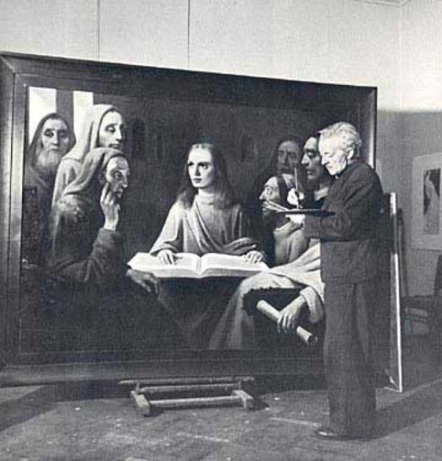 После первой подделки Ван Меегерен сам желал раскрыть свое ловкое мошенничество, в частности желая погубить репутацию искусствоведов, но после того, как продал это полотно за сумму, эквивалентную нескольким миллионам долларов (по нынешнему курсу), желание переубеждать покупателя у него пропало.