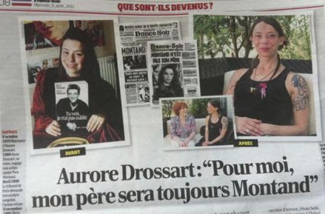 Первый иск актрисы был отвергнут, а 9 ноября 1991 года, за три дня до нового судебного разбирательства, Монтан скончался. Через три года парижский суд неожиданно для всех признал Аврору дочерью актера на основании свидетельских показаний и внешнего сходства.
