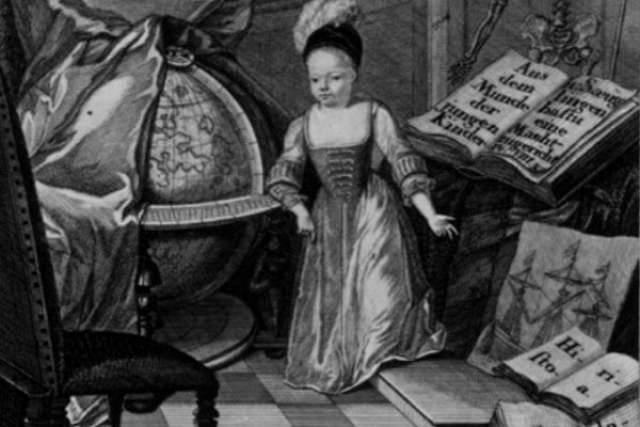 Кристиан Хейнекен Самое гениальное дитя эпохи Просвещения. Прожил всего четыре года, но еще при жизни успел стать знаменитостью и удостоиться личной аудиенции у короля. Хейнекен родился в 1721 году в достаточно образованной семье. Отец был известным в Любеке архитектором, мать - художницей. К четырем годам Хейнекен говорил на нескольких европейских языках, обладая блестящими познаниями в истории, математике и георафии и по интеллектуальному уровню превосходил большинство взрослых современников.