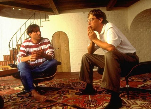 Стив Джобс и Билл Гейтс.