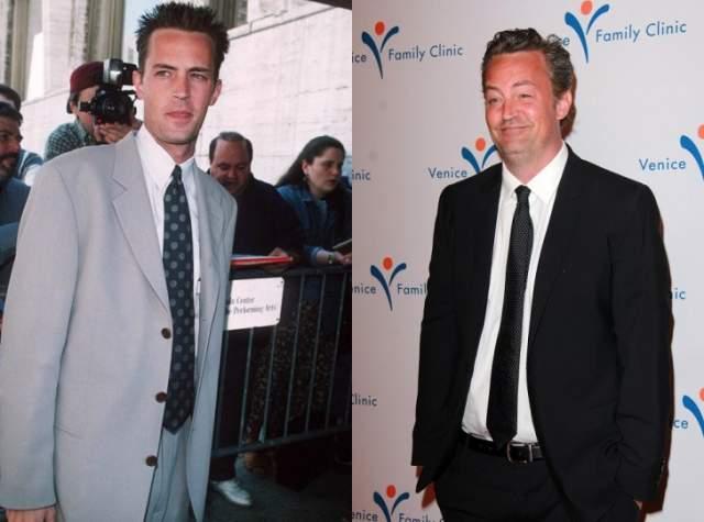Мэттью Перри Слева в 1997 году, справа в 2015 году