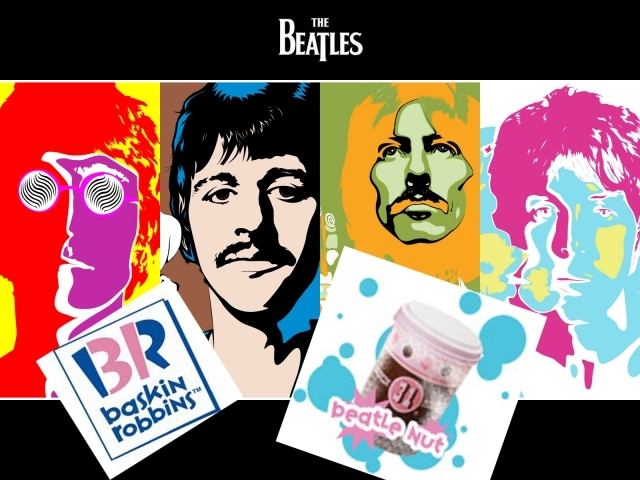 """Перед первым масштабным турне группы, компания """"Baskin-Robbins"""" изготовила специальное мороженое """"Beatle Nut""""."""