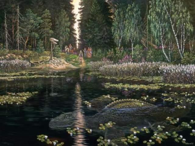 Дракон из Бросно Озеро Бросно, расположенное в Тверской области, - самое глубокое пресноводное озеро Европы, но на весь мир оно известно главным образом из-за загадочного существа, которое, как верят местные жители, в нем обитает.