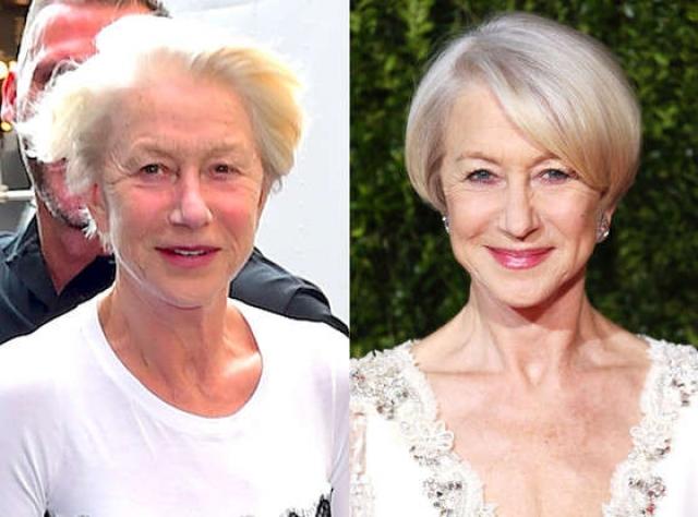 Хелен Миррен. В 72 года актриса кажется вполне довольной своим внешним видом.