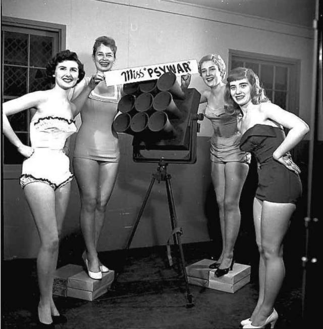 """""""Мисс психологическая война"""". Данное довольно странное мероприятие непонятной направленности состоялось в начале 1940-х, во время Второй мировой."""