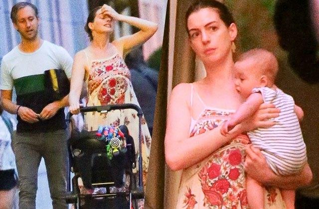 Энн Хэттэуэй. Актриса родила первенца своему мужу Адаму Шульману в марте 2016 года, при этом охотно демонстрируя беременность.