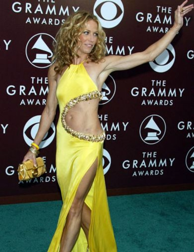 Шерил Кроу. Певица нарядилась в платье для бальных танцев.